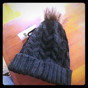 BP black knit pompom hat
